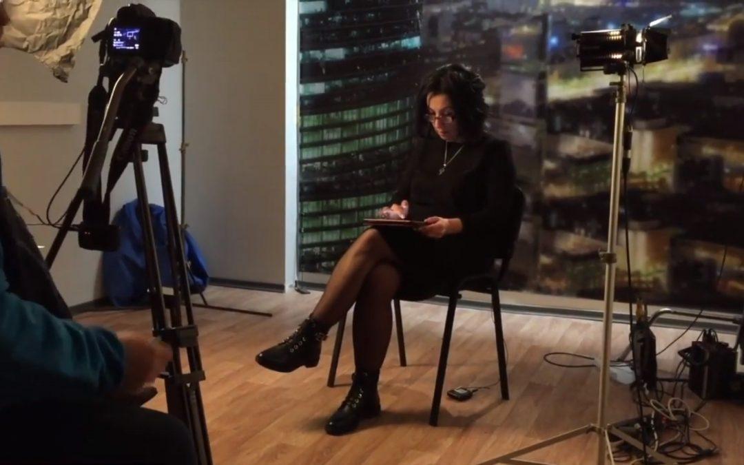Бекстейдж съемок Виктории Будур на телеканале РЕН ТВ
